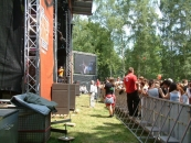 In front of stage HOA 2014