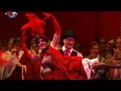Männerballett der Cäcilia Wolkenburg KGMV tanzt den CanCan - Divertissementchen 2013